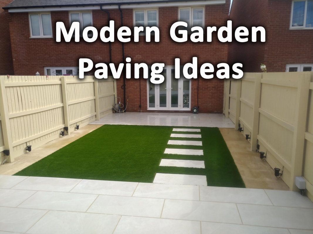 Modern garden Paving Ideas
