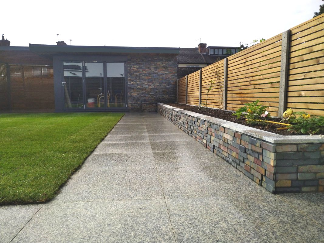 Modern garden paving with Granite